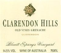 Clarendon Hills Grenache Old Vines Blewitt Springs Vineyard